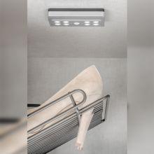 Emuca Luz LED a pilas, sensor de movimiento, Luz blanca fría, Plástico, Gris metalizado - Ítem3