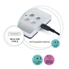 Emuca Luz LED a pilas, sensor de movimiento, Luz blanca fría, Plástico, Gris metalizado - Ítem7