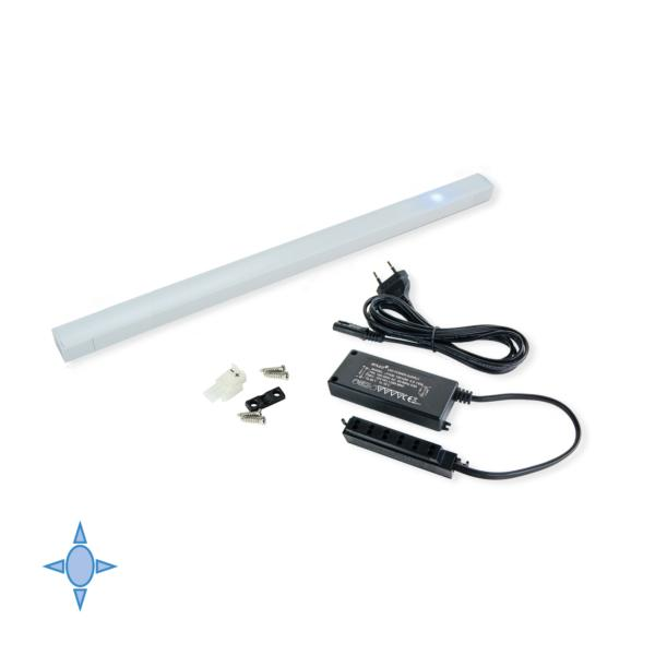 Aplique LED Diflex Emuca A 550 mm luz blanca fría con sensor táctil