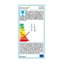 Emuca Barra para armario con luz LED, regulable 408-558mm, batería extraible, sensor de movimiento, Luz Blanca natural, Aluminio, Anodizado mate - Ítem10