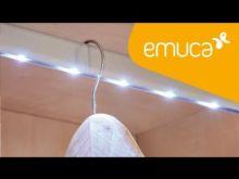 Barra de armario LED a pilas Rainbow Emuca A 708 mm luz blanca fría con sensor de movimiento en la derecha - Ítem5