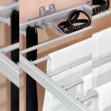 Emuca Kit Cajón metálico y bastidor de guías, regulable, módulo de 600 mm, Acero y aluminio, Gris metalizado. - Ítem3