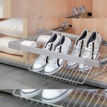 Emuca Kit de zapatero metálico y bastidor de guías, regulable, módulo de 900 mm, Acero y aluminio, Gris metalizado - Ítem3