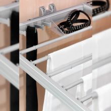 Kit de guía y varillas para pantalones Keeper Emuca para módulo 900mm en acabado anodizado mate - Ítem2