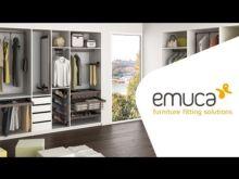 Emuca Kit Joyero y Bastidor de guías, regulable, módulo de 600 mm, Acero y aluminio, color moka - Ítem4