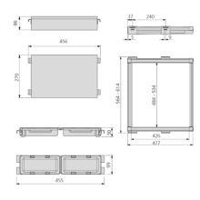 Kit organizador interior de armario Moka Emuca - Ítem1