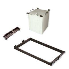 Kit de guía, cesto para ropa y bandejas auxiliares Moka Emuca para módulo 600mm
