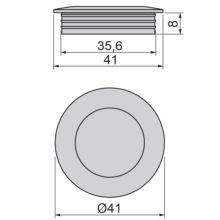 Emuca Pomo para mueble, D. 41 mm, Zamak, color moka - Ítem2