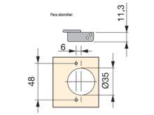 Bisagra C95 doble puerta - Ítem2