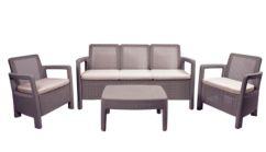 Conjunto Tarifa sofá 3 plazas+2 sillones+mesa auxiliar.