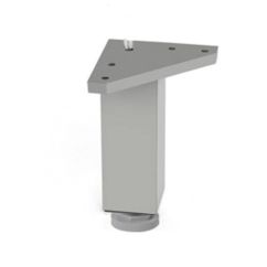 Pata mueble aluminio cuadrada