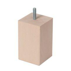 Pata de madera cuadrada