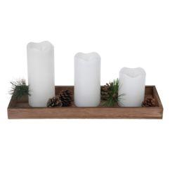 Set 3 velas Led