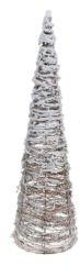 Cono blanco en Ratán LED 80 cm