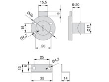 Cerradura de bombillo para cajón - Ítem1