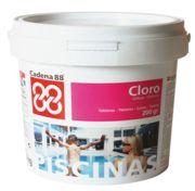 Cloro tabletas 200 gr. (5 kg.)