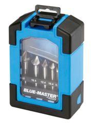 Estuche 6 avellanadores BLUE MASTER HSSCo 90º 3 cortes AV6CM2