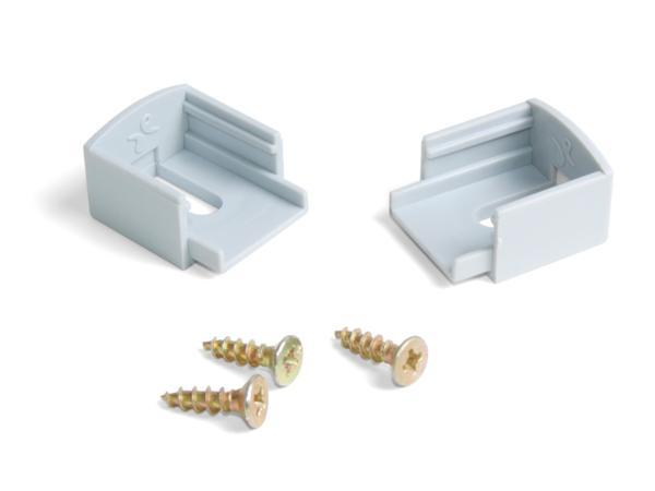 Accesorios de remate perfil aluminio de superficie