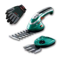 Tijeras ISIO dos cuchillas más guantes Bosch