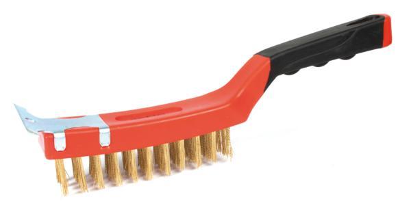 Cepillo métálico con rascador