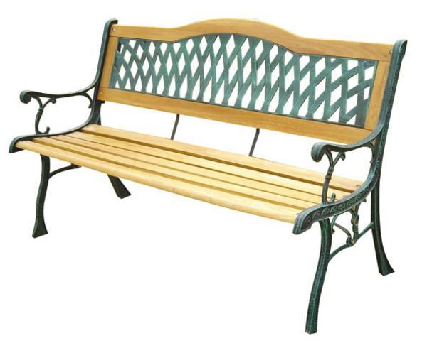 bancos de madera bancos de forja muebles jardin muebles terraza