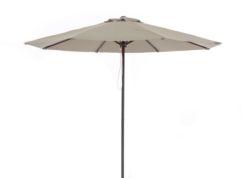 Parasol de aluminio imitación madera diámetro 3 m