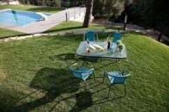 Conjunto mesa rectangular y 4 sillas