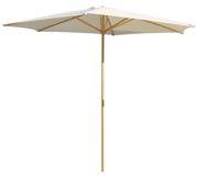 Parasol de madera natural