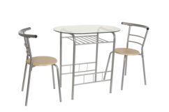 Set de cocina mesa cristal con 2 sillas