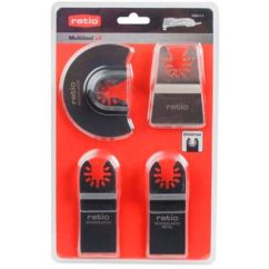Accesorios multiherramienta kit 4 unidades Multitool Ratio