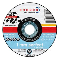 Disco de corte inox/metal Perfect Express Dronco