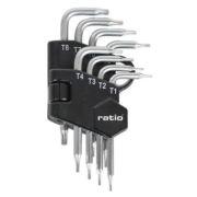 Juego de 8 llaves acodada Torx micro Ratio