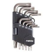 Juego de 9 llaves acodada Torx Ratio