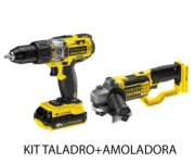 Kit taladro + Amoladora con batería