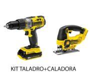 Kit taladro + caladora con batería