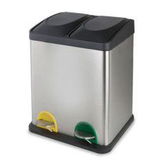 Cubo pedal cromado ecológico