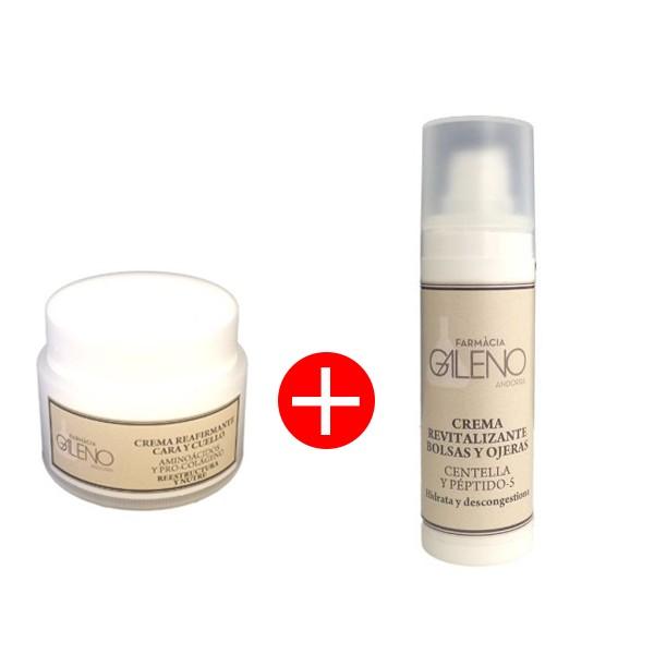 Crema reafirmante para cara y cuello 50ml de Línea Galeno + REGALO