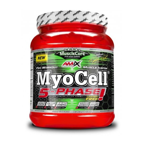 AMIX MUSCLECORE DW MYOCELL 5 PHASE FRUIT PUNCH 500GR