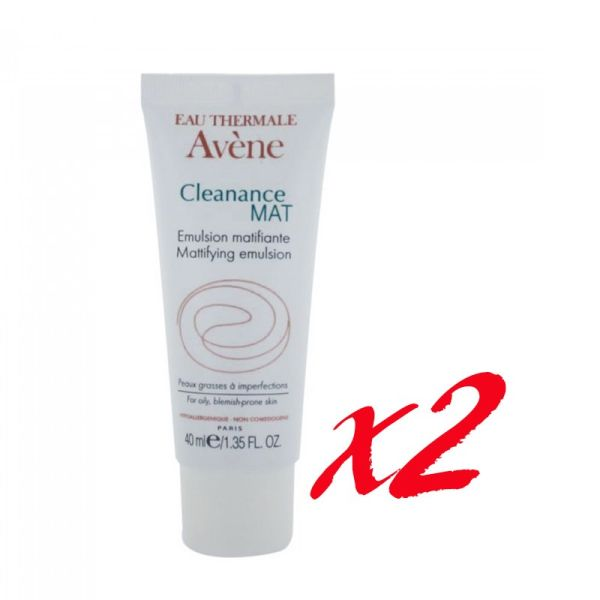 AVENE CLEANANCE EMULSION REGULATRICE 40ML X 2 UNIDADES