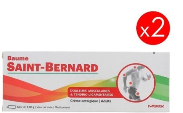 Balsamo Saint Bernard dolores y contusiones 100gr x2 unidadesº
