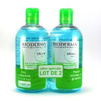 BIODERMA SEBIUM H2O SOLUCION MICELAR 500ML x2