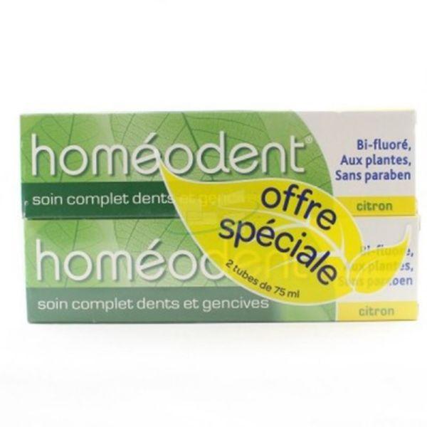 Boiron Homeodent dentífrico limón 75ml x2 unidades