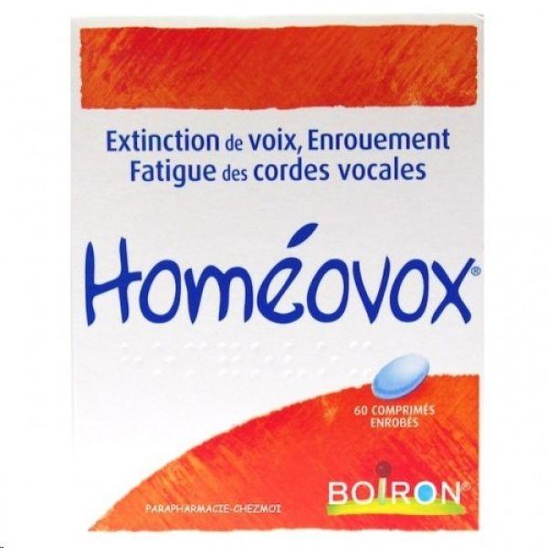 Boiron Homeovox tratamiento homeopático molestias de garganta y afonía 60 comprimidos