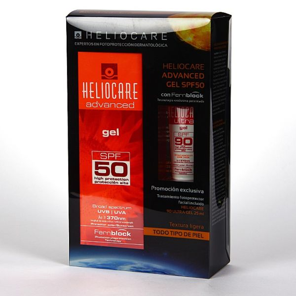 COFRE PROTECTOR SOLAR HELIOCARE GEL ADVENCED SPF50 200ML + GEL SPF90 25ML REGALO