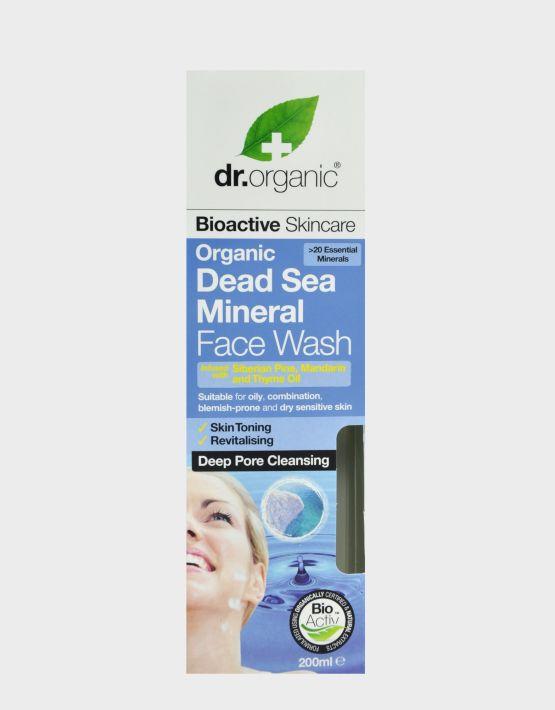 DR.ORGANIC DEAD SEA MINERALS FACE WASH 200ML