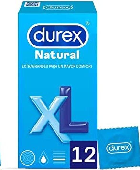 DUREX PRESERVATIUS NATURAL XL 12 UNIDADES