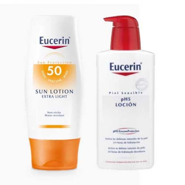 EUCERIN SOLAR SUN LOTION EXTRA LIGHT SPF50 400ML + REGALO