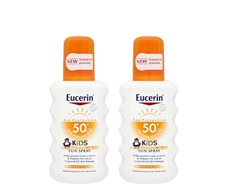EUCERIN SUN SPRAY KIDS SPF50 200ml X 2