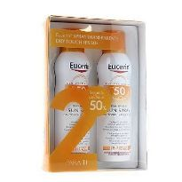 EUCERIN SPRAY SOLAR TRANSPARENTE DRY TOUCH FPS 50+ 200ML x 2