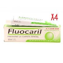 FLUOCARIL DENTIFRICO MENTA 125ML x4 UNIDADES